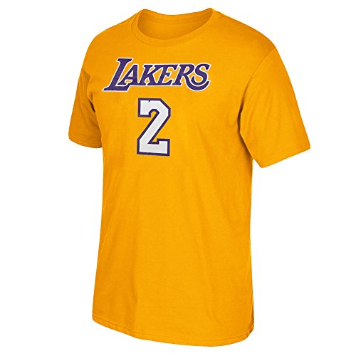 adidas Los Angeles Lakers Lonzo Ball Player T-Shirt (Gold, XX-Large) (Nba Player T-shirt)
