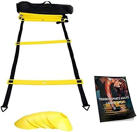 BD.Y Paquete de Escalera de Agilidad 6 Conos Deportivos, Libro electrónico de Ejercicios de Agilidad y Estuche: Amazon.es: Hogar