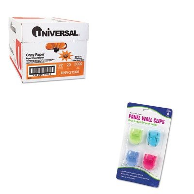 KITAVT75306UNV21200 - Value Kit - Advantus Fabric Panel Wall Clips (AVT75306) and Universal Copy Paper (UNV21200)