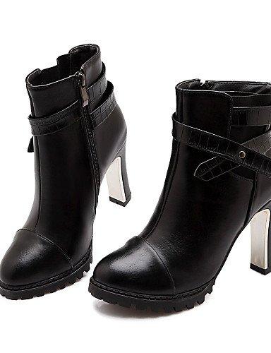 us7 Semicuero Tacón uk5 de 5 Botas eu38 us7 uk5 XZZ 5 black Stiletto black black Negro eu36 Botines Punta Redonda uk4 5 Vestido Zapatos 5 Bermellón cn36 mujer cn38 eu38 cn38 us6 vnBBTqx6