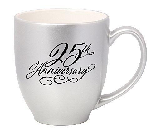 Stoneware Joy (25th Anniversary Silver 16 oz. Stoneware Coffee Mug by James Lawrence)