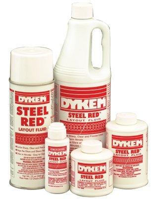 8Oz. Bic Steel Red Layout Fluid