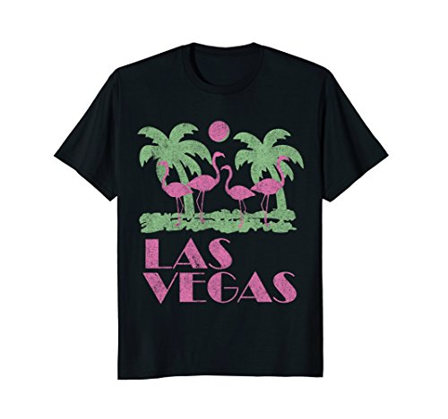 Mens Vintage Las Vegas T-Shirt Medium Black