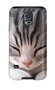 Protection Case For Galaxy S5 / Case Cover For Galaxy(cute Cat Sleeping)