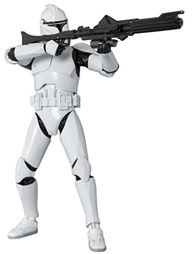 Bandai S.H.Figuarts Star Wars Clone Trooper Phase1 About 150mm ABS & PVC Painted Action Figure (Star Wars Dc 15 Blaster Rifle Toy)