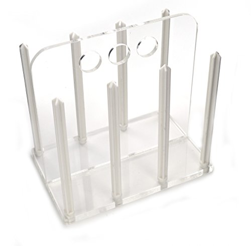 Petri Dish Rack for 60mm Hold up to 60 Dishes - Clear Acrylic