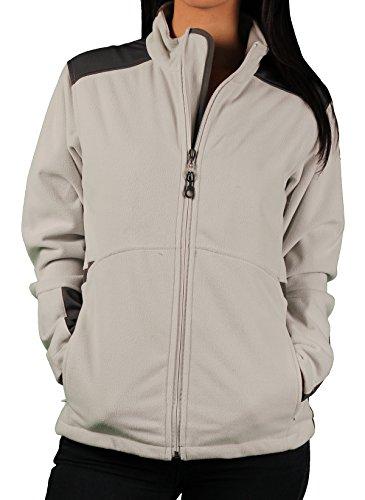 Ladies Vantage 'Element' Soft-Shell Jacket, Silver, Size Medium -