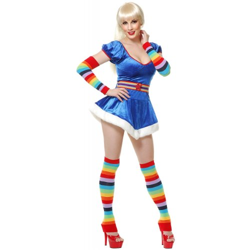 (Charades Unisex-Adult's Rainbow Arm and Leg Warmers, One)