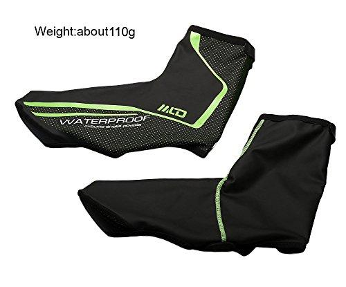 oeste ciclismo ciclismo reflectantes Impermeables y cortavientos Nieve Antideslizante Zapato cubre Cubrezapatillas o Black-M