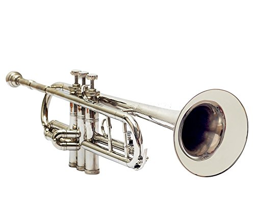 Queen Brass Bb Finish Brass Band Trumpets Beginner Chrome by Queen Brass