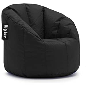 Big Joe Milano Bean Bag Chair Multiple Colors, Provides Ultimate Comfort, Great for Any Room (Limo Black)