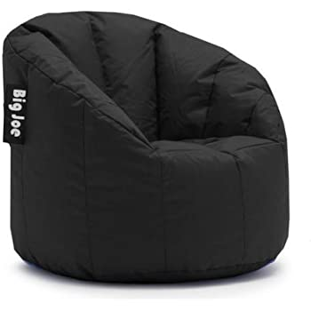 Stupendous Big Joe Milano Bean Bag Chair Filled With Ultimax Beans Soft But Firm Support Set Of 2 Limo Black Machost Co Dining Chair Design Ideas Machostcouk