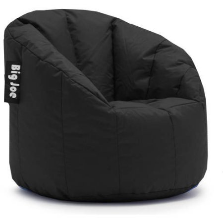 Big Joe Milano Bean Bag Chair | Filled with UltimaX Beans | Soft but Firm Support (Set of 2 - Limo Black) (Bag Chairs Kids Bean)