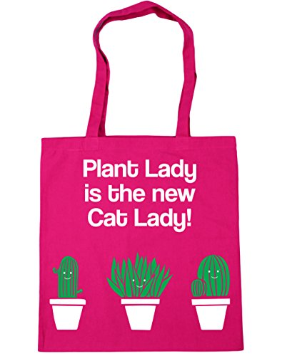 10 HippoWarehouse Lady 42cm Fuchsia Shopping Gym is Cat litres Tote Lady Bag New The x38cm Beach Plant FpFwxf
