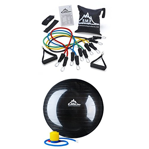 Black Mountain Resistance Band Set & 75 cm Stability Ball Bundle $29.99 **Today Only**