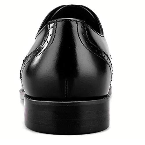 Derby Nozze Breathable Scarpe Calzature Black Up Regali Formale Intagliare Vera Casual In Uomo Di Classico Pelle Comode Lace Affare Scarpe Unx8ZWUS6B