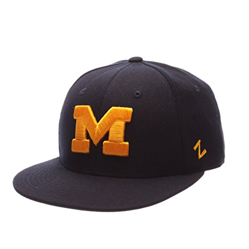 - ZHATS NCAA Michigan Wolverines Men's M15 Fitted Hat, Navy, Size 7 1/4