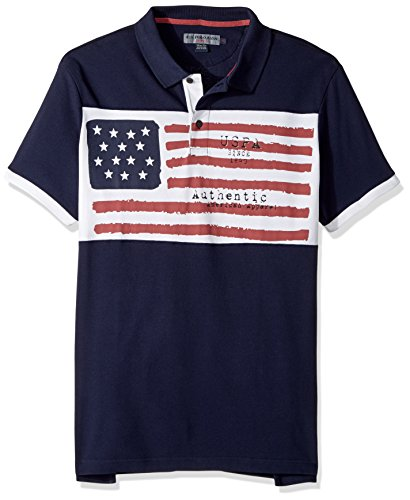 U.S. Polo Assn. Men's Slim Fit Solid Short Sleeve Pique Polo Shirt, 8518-Classic Navy, M