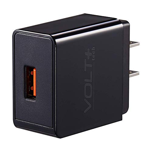 Quick Charge 18W USB Wall Charger for Micromax Canvas Nitro 3 Includes Adaptive Fast Micro USB 5ft Cable! ()