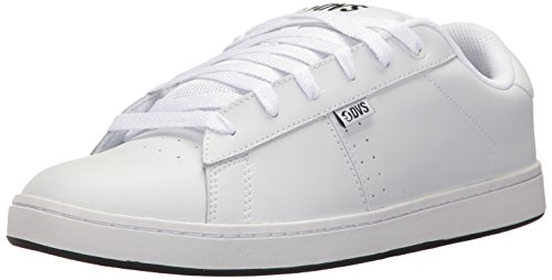DVS Men's Revival 2 Skate Shoe, White Leather, 8 Medium US (2 Mens Skateboard Shoes)