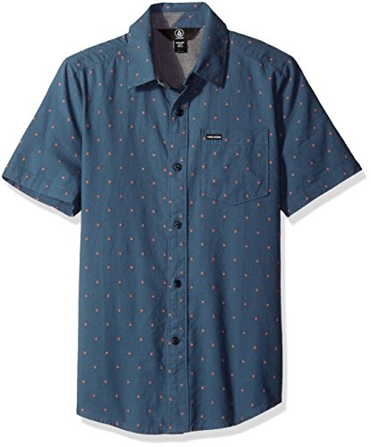 volcom-big-boys-zeller-short-sleeve-shirt-air-force-blue-x-large