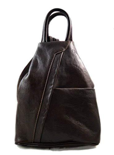 8ea3899adb810 Leder rucksack menner damen leder tasche gürteltasche hüfttasche umhängetasche  schultertasche tragetasche ledertasche seitentasche herren dunkel braun
