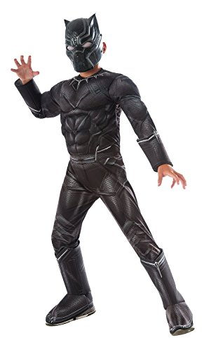Rubie's Costume Captain America: Civil War Deluxe Black Panther Costume, Child Large - Deluxe Costumes