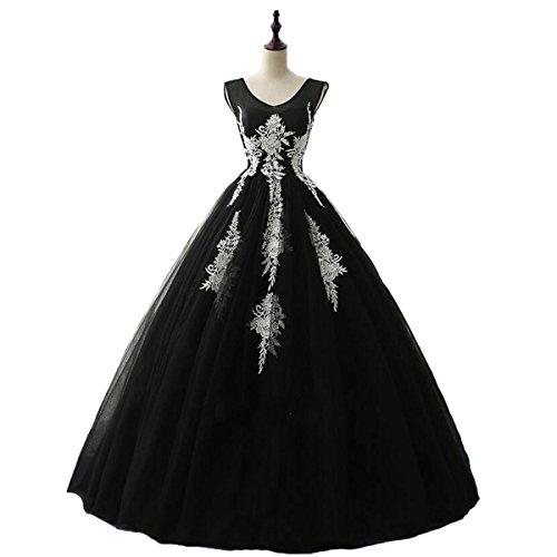 long black puffy prom dresses - 3