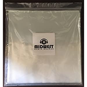 """(50) - 12"""" Clear Plastic Outer Vinyl Record Sleeves - Premium 3mil Thick"""