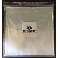 (50) - 12 Clear Plastic Outer Vinyl Record Sleeves - Premium 3mil Thick