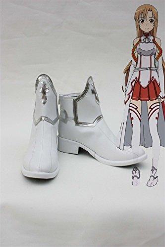 Bromeo SAO Sword Art Online Anime Asuna Yuuki Cosplay Schuhe