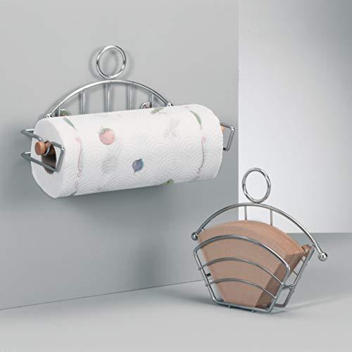 Zeller 24867 Porta Rotolo da Cucina Cromato 28 x 12,5 x 14,5 cm