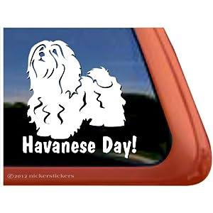 Havanese Day! Vinyl Dog Window Decal Sticker 33