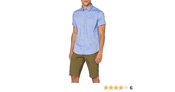 Springfield Daily Dobby Franquicias-C/12 Camisa Casual, Azul ...