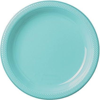 Bulk Round Plastic Plates | 50ct (7 inch Robinu0027s Egg Blue)  sc 1 st  Amazon.com & Amazon.com: Bulk Round Plastic Plates | 50ct (7 inch Robinu0027s Egg ...