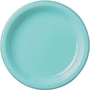 Bulk Round Plastic Plates   50ct (7 inch Robin\u0027s Egg Blue)  sc 1 st  Amazon.com & Amazon.com: Bulk Round Plastic Plates   50ct (7 inch Robin\u0027s Egg ...
