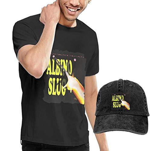 Kangtians RHZTPYRDE Buckethead Albino Slug Unisex Short Sleeve T-Shirt and Cowboy Hat Black L