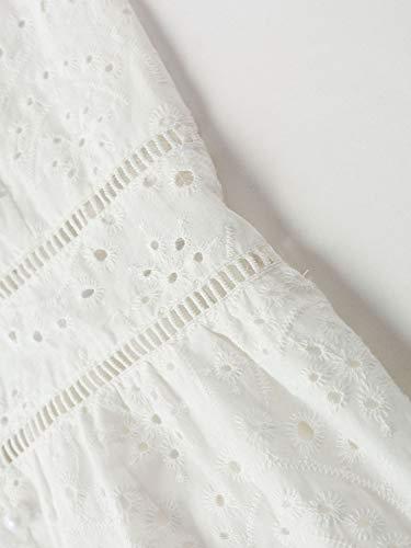 BerryGo Women's Embroidery Pearl Button Down Dress V Neck Spaghetti Strap Maxi Dress 5