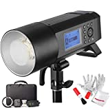 Godox AD400 Pro AD400Pro 400ws GN72 TTL Battery-Powered Monolight, 1/8000 HSS Outdoor Flash Strobe Light, Built-in Godox 2.4G System, 390 Full Power Pops, 0.01-1s Recycle Time, 30w LED Modeling Lamp