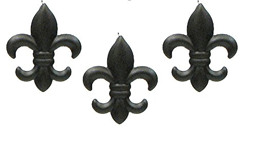 Set of 3 Small Tin FLEUR DE LIS Wall Plaque Hanging Home Wall Decor