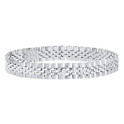 Men's Citerna argent Sterling 5 Rolex Link Bracelet de 21,6 cm