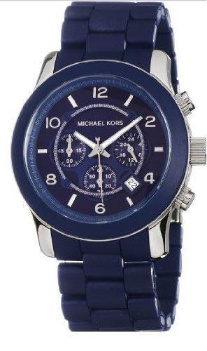 055aa4b9a707 Michael Kors Men s MK8159 Oversize Navy Silicone Runway Watch  Amazon.ca   Watches