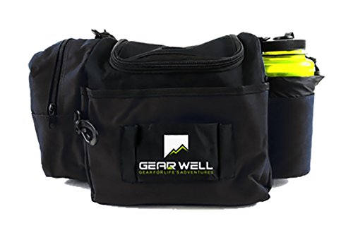 - Gear Well Extra Rounds Disc Bag - 12 Disc Lightweight and Durable - Perfect Disc Golf Bag for Beginner and Experienced Disc Golf Players - Black