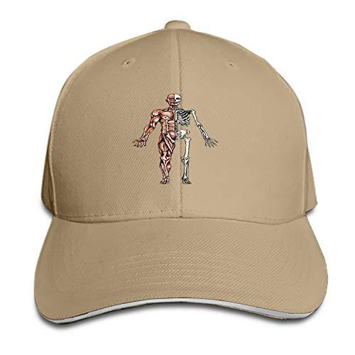 Human Anatomy Snapback Cap Flat Bill Hats Adjustable Blank Caps for Men Women