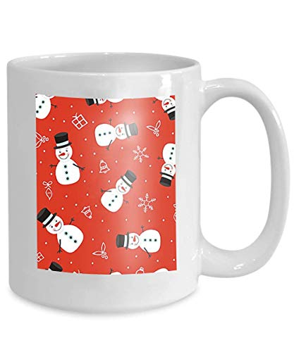 (mug coffee tea cup merry christmas cute snowman background holiday decoration retro style eps Paintings 110z)