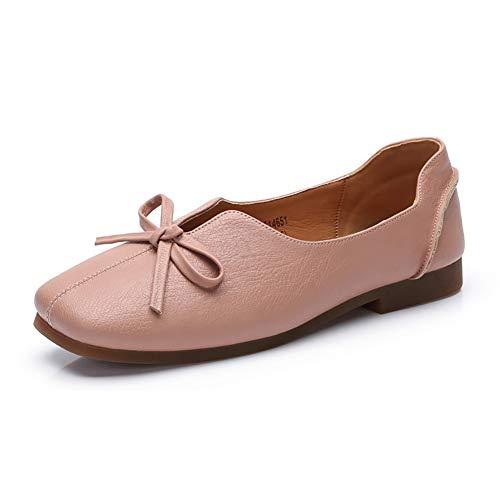 Zapatos De Suaves Mujer De Fairy Zapatos De Planos Verano Zapatos De Scoop Zapatos Bajo Baja Rollo Y Pink Otoño Boca Huevo Suaves Tacón Zapatos q6T1xOf
