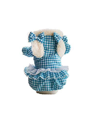 Skirt Uk Poodle 50s Costume (Christmas Uniquorn 2016 New Autumn And Winter Pet Clothes Poodle Teddy Cute Handsome Rabbit Ears Style Cotton Coat Warm And Comfortable Dog)