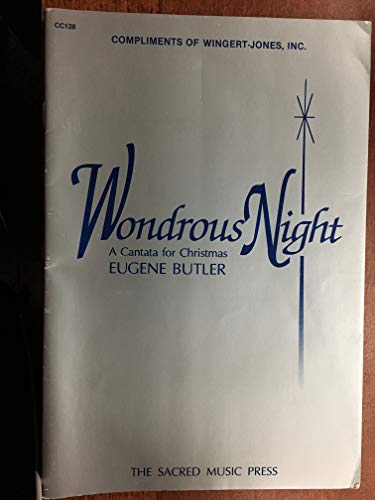 WONDROUS NIGHT cantata for christmas, for mixed voices (SATB) and organ or piano consisting of 12 different christmas titles bag 1clt