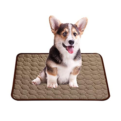 Uymaty Kühlmatte für Haustiere,Ungiftige Hundeschlafmatte Hund Katzenmatte Schlaf Eisseide Bett Waschbar Weich…
