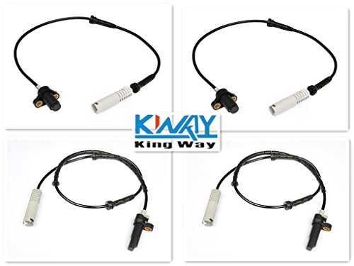 4pcs ABS Speed Wheel Sensor FRONT RIGHT REAR LEFT fit BbMWw E39 540i 528i (E39 Abs Sensor compare prices)